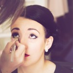 vintage wedding styled makeup