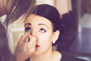 vintage wedding styled makeup